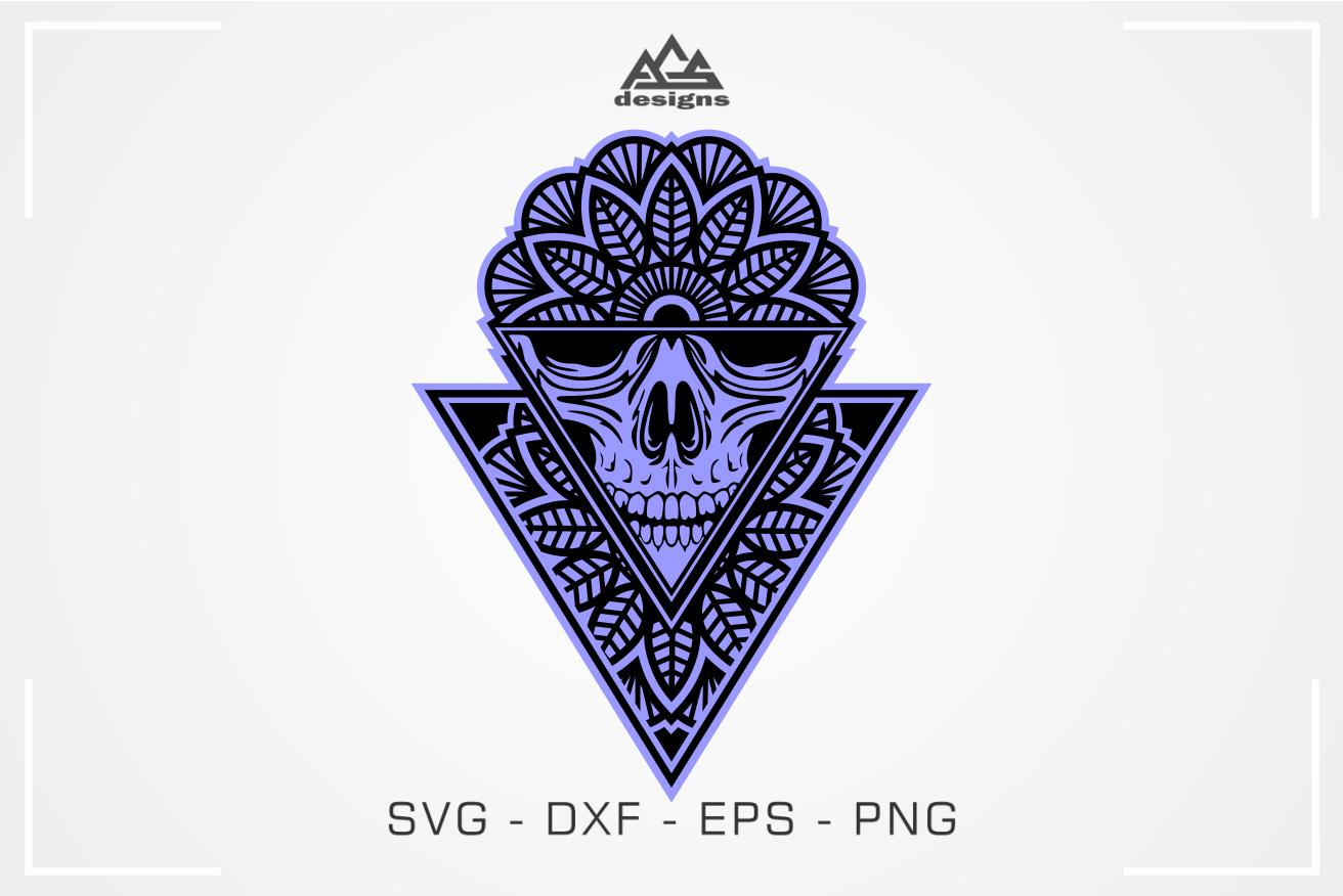 Skull Mandala Art Svg Design By Agsdesign Thehungryjpeg Com