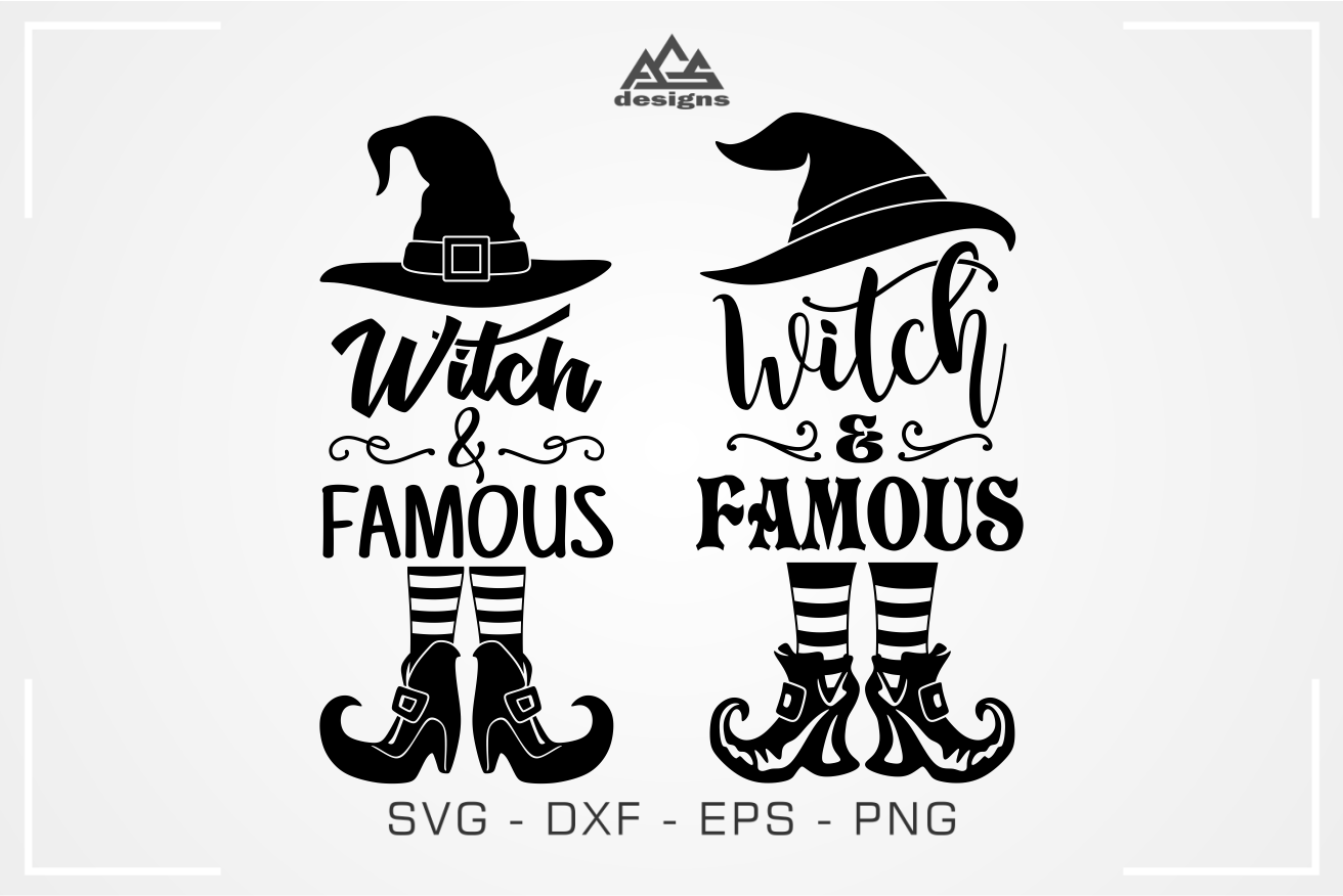 Witch Famous Witch Halloween Svg Design By Agsdesign