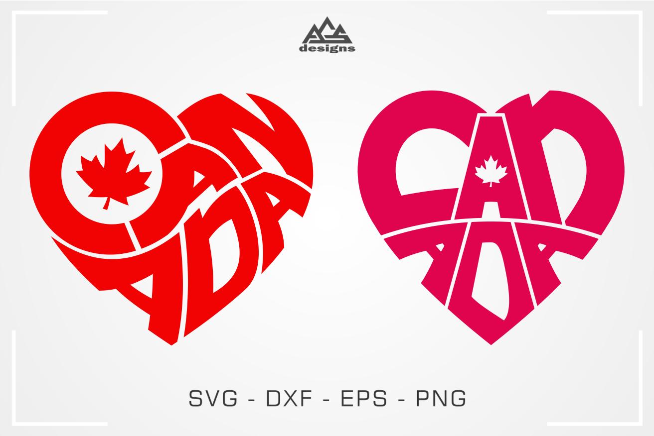 Canada Heart Love Svg Design By Agsdesign Thehungryjpeg Com