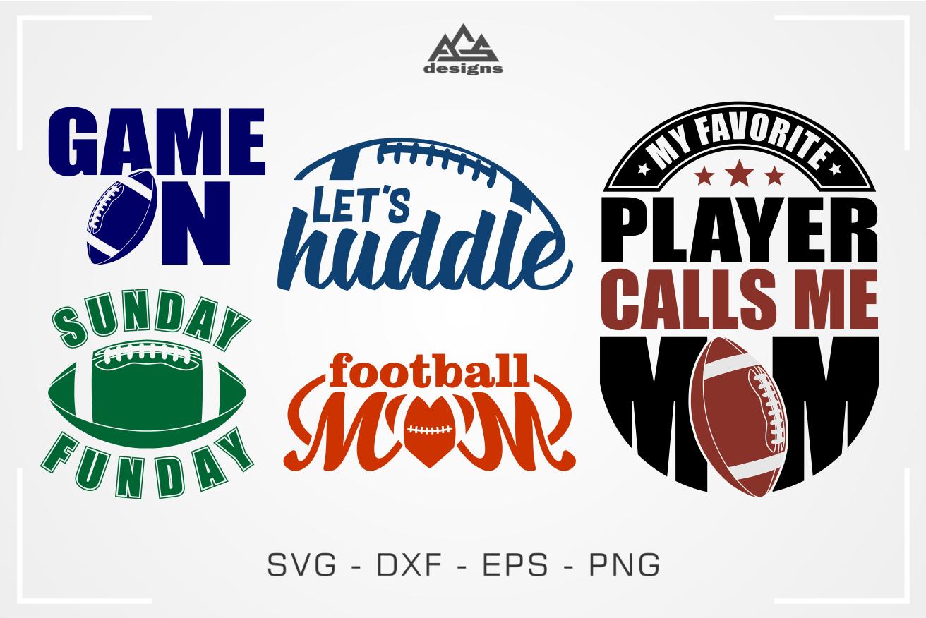 Football Mom-Dad American Footbal Quotes Bundle Svg Design ...