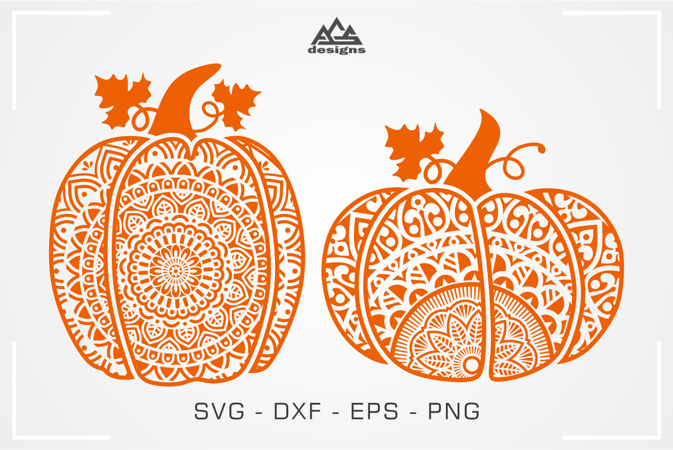 Pumpkin Mandala Fall Svg Design By Agsdesign Thehungryjpeg Com