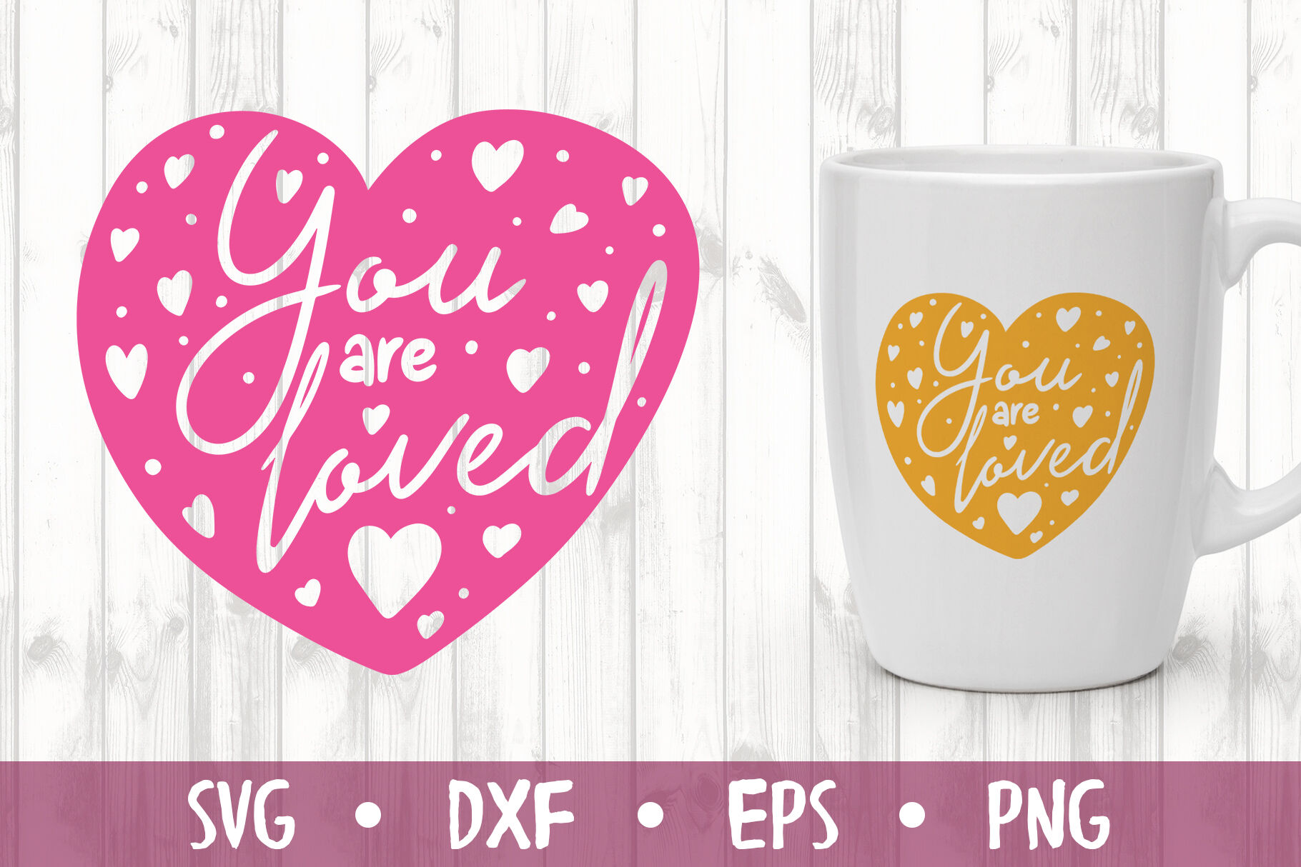 You Are Loved Svg Cut File By Milkimil Thehungryjpeg Com