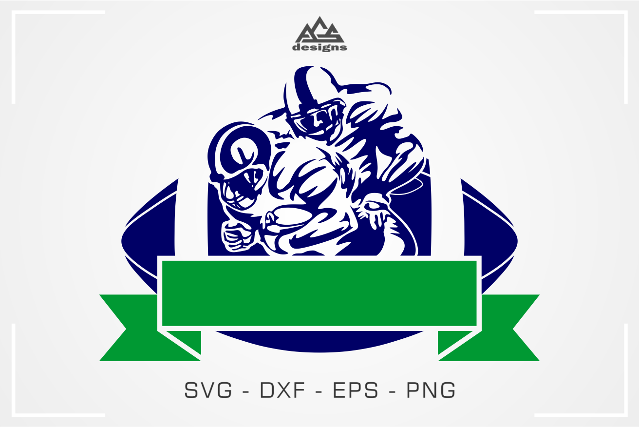 American Football Sport Ribbon Svg Design By Agsdesign