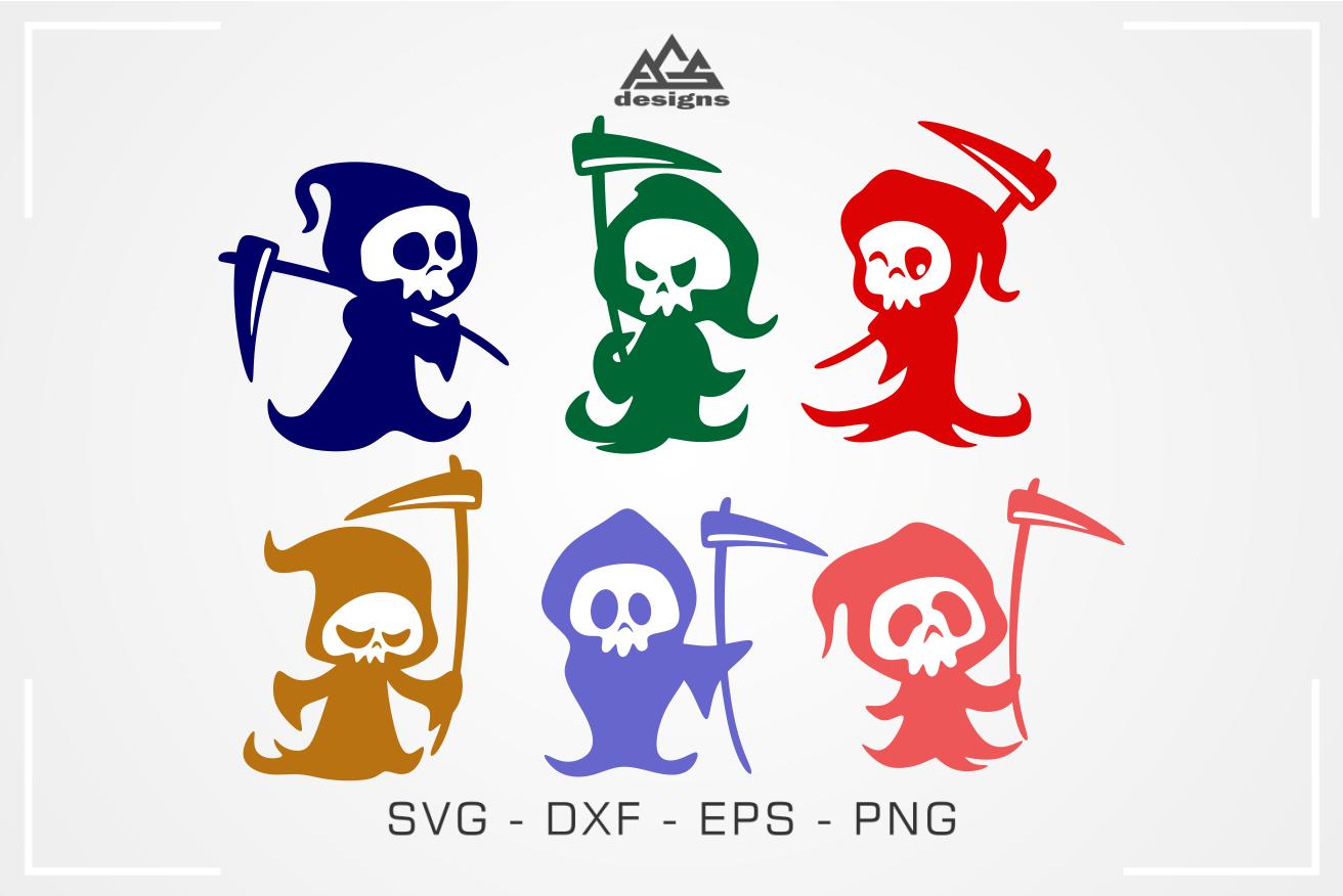 6 Cute Grim Reaper Svg Design By Agsdesign Thehungryjpeg Com