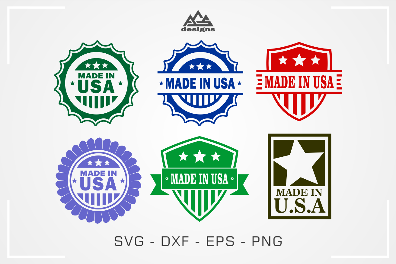 Made In Usa Stamp Svg Design By Agsdesign Thehungryjpeg Com