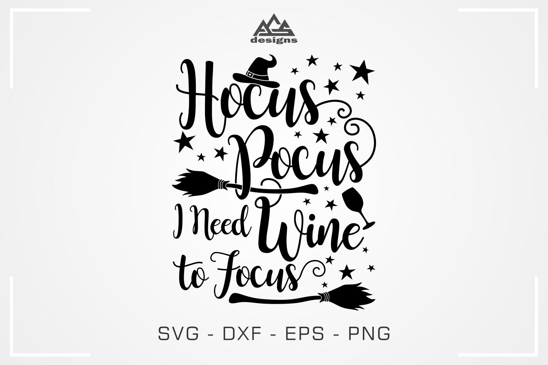 Hocus Pocus Wine To Focus Svg Design By Agsdesign Thehungryjpeg Com