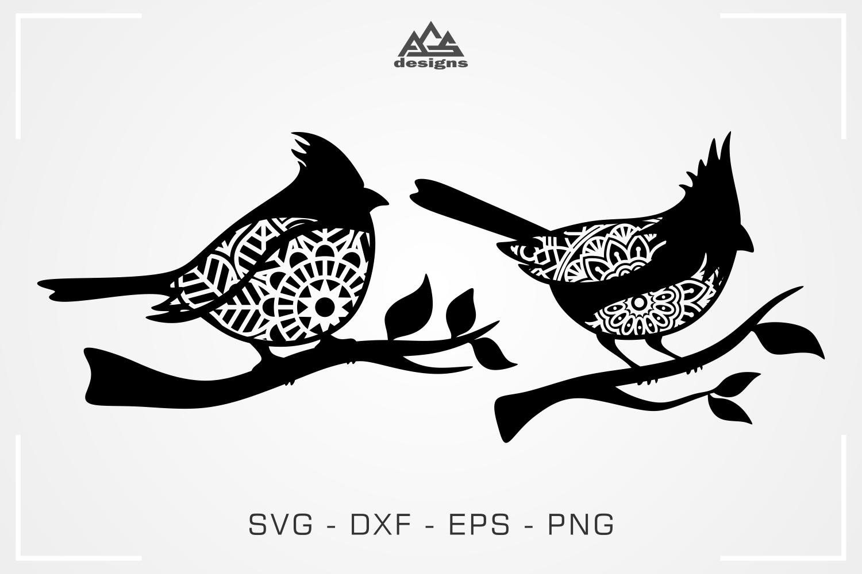 Cardinal Bird Mandala Svg Design By Agsdesign Thehungryjpeg Com