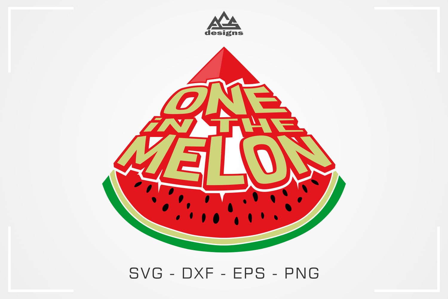 One In The Melon Summer Melon Svg Design By Agsdesign