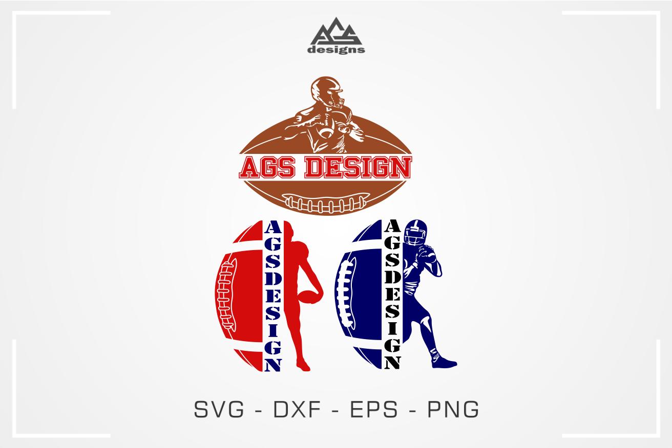 Footbal Player Frame Sport Svg Design By Agsdesign Thehungryjpeg Com