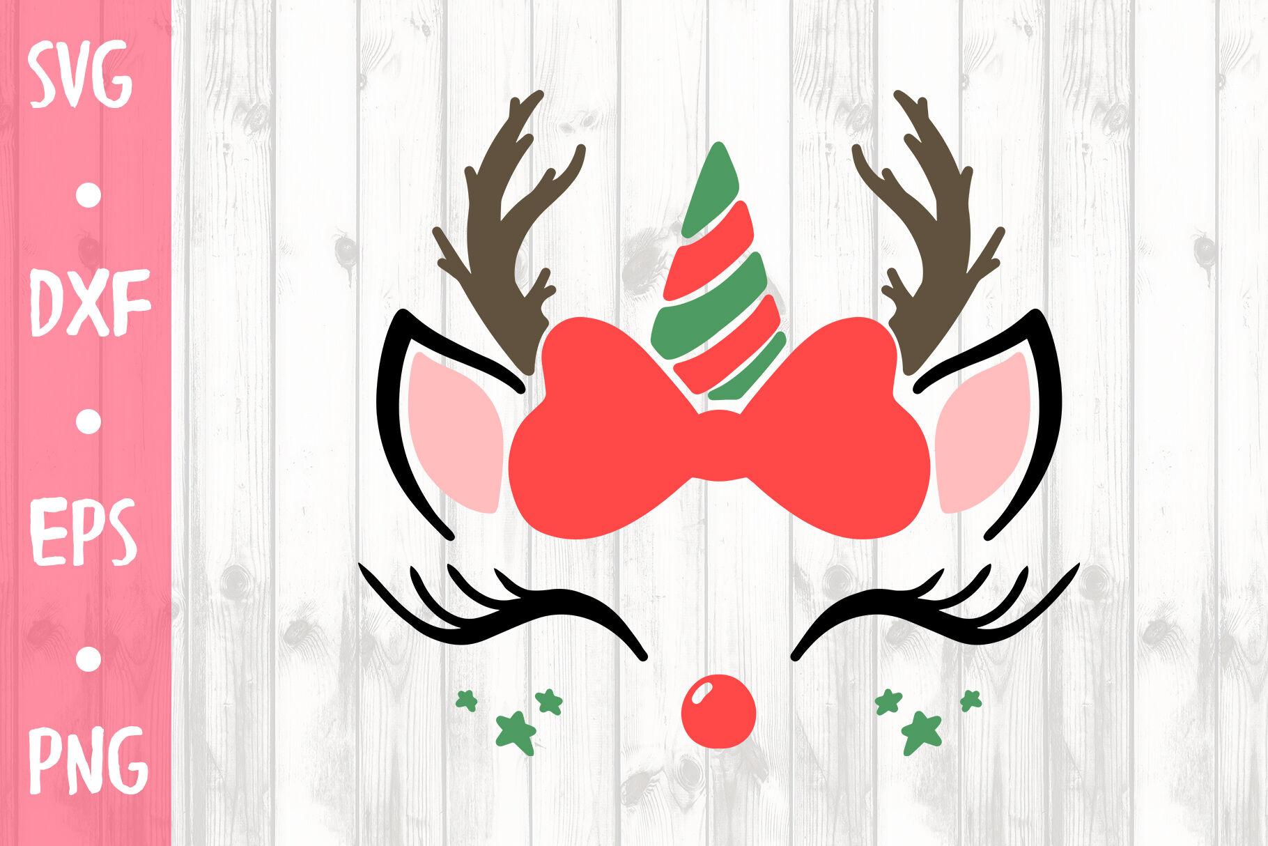 Cute Christmas Unicorn Svg Cut File By Milkimil Thehungryjpeg Com