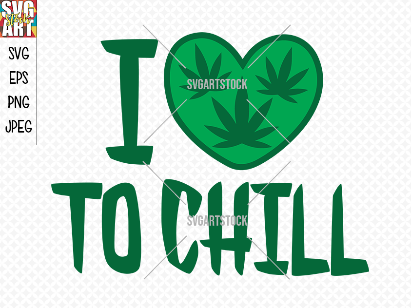 I Love To Chill By Svg Art Stock Thehungryjpeg Com