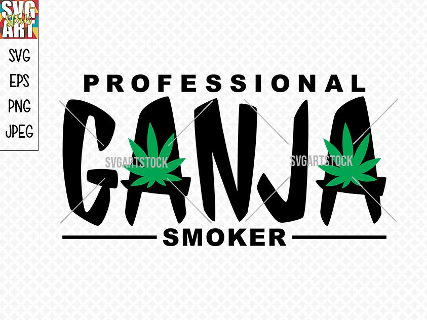 Professional Ganja Smoker By Svg Art Stock Thehungryjpeg Com