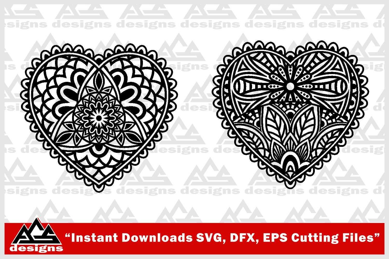 Love Heart Mandala Svg Design By AgsDesign | TheHungryJPEG.com