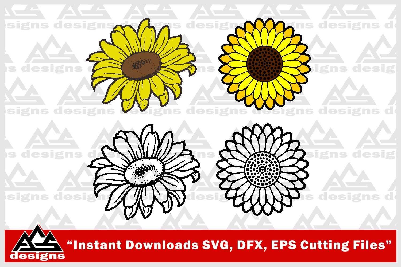 Sun Flower Svg Design By Agsdesign Thehungryjpeg Com