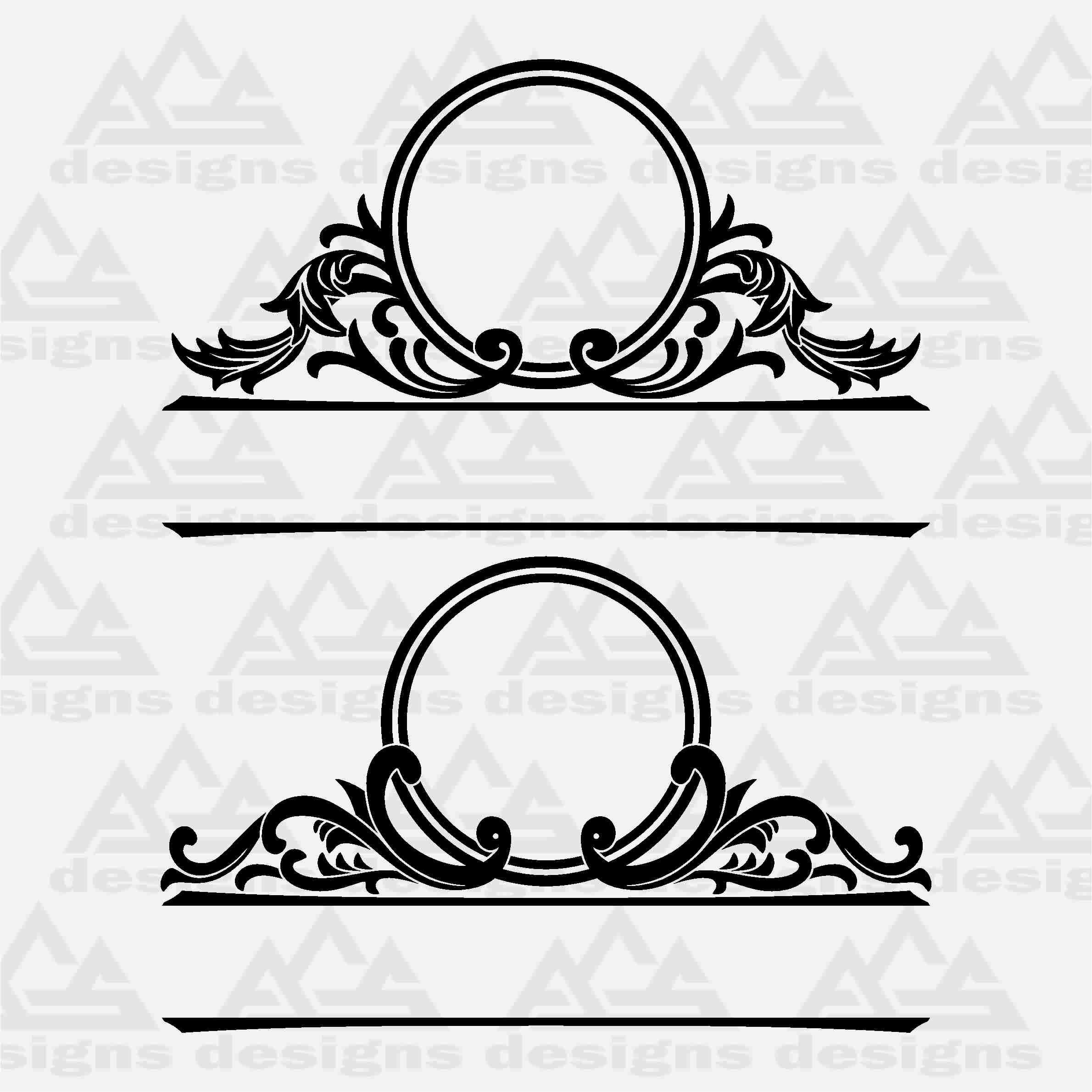 Mailbox Monogram Frame Svg Design By Agsdesign Thehungryjpeg Com