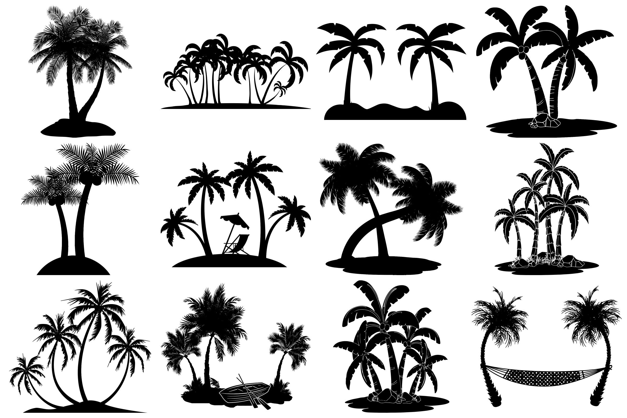 Palm Tree Silhouettes Ai Eps Png By Me And Amelie Thehungryjpeg Com