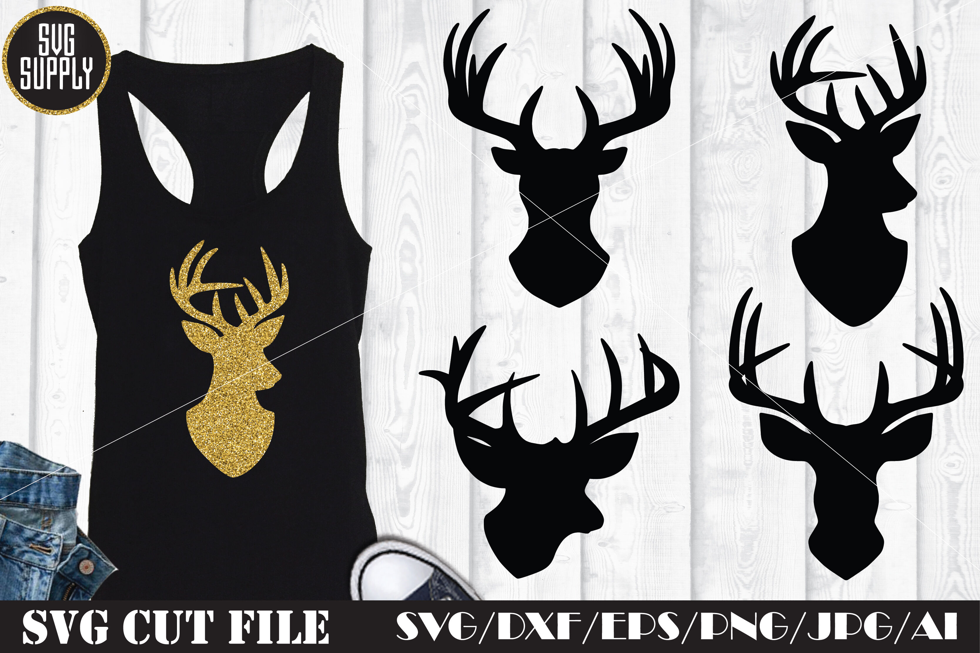 Reindeer Svg Cut Files By Svgsupply Thehungryjpeg Com