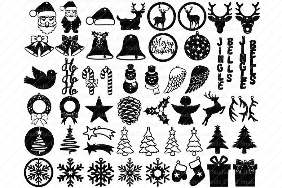 51 Earring Svg Christmas Bundle Pendant Template Svg By Doodle