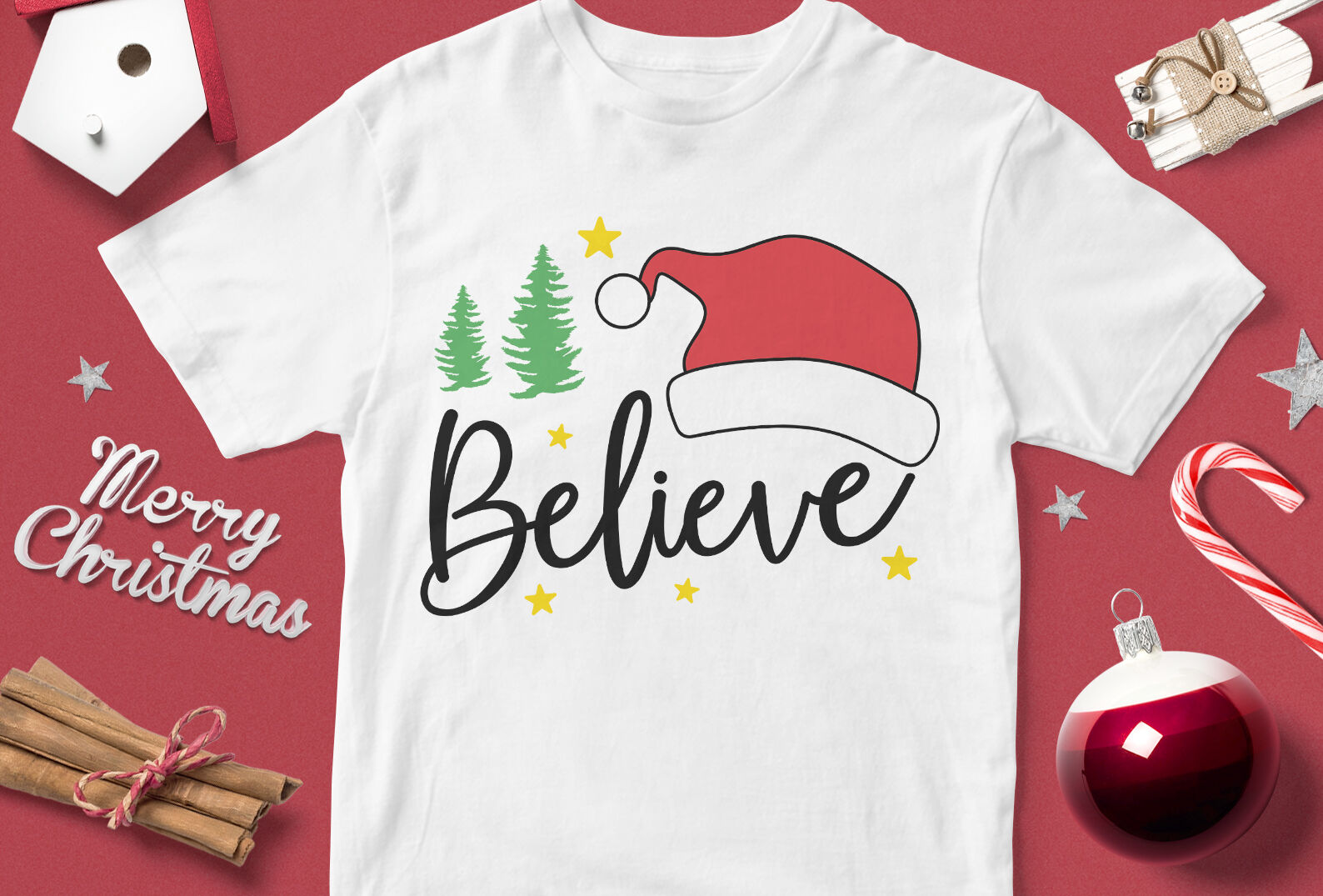 Believe In Santa Funny Christmas Quotes Svg By Cuttingsvg