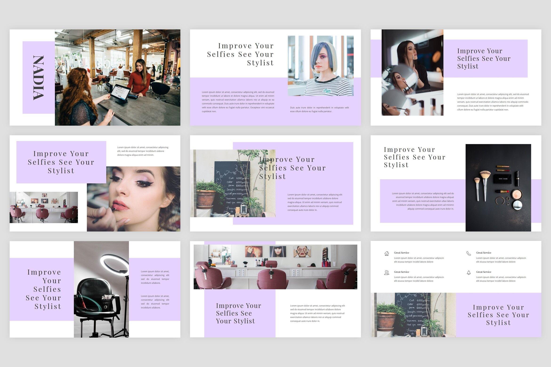 Nadia Hair Salon Powerpoint Template By Stringlabs