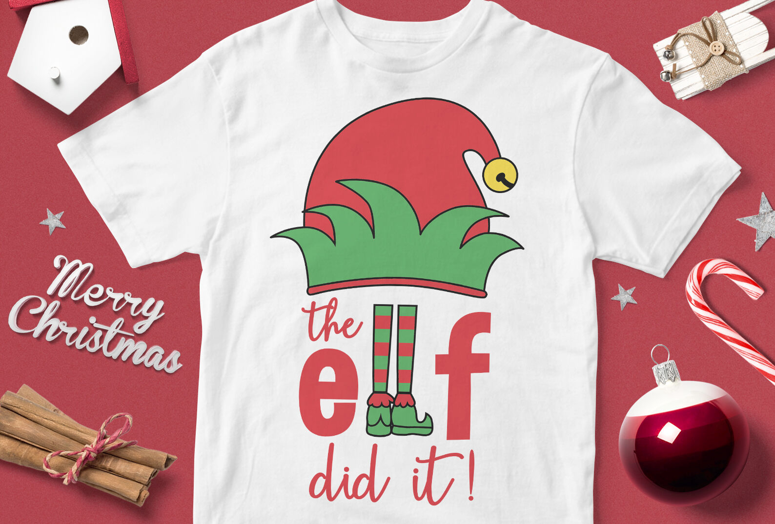 The Elf Did It Funny Christmas Quotes Svg By Cuttingsvg