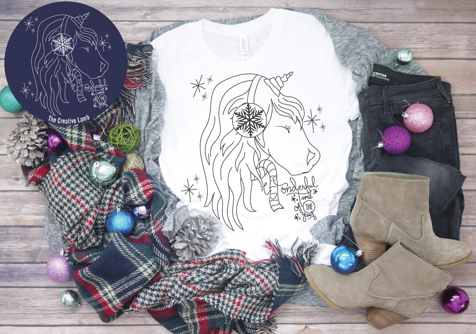 Christmas Unicorn Christmas Magic Holiday Svg By The Creative Lamb