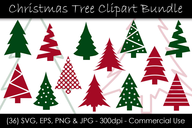 Christmas Tree Svg Bundle Christmas Tree Clip Art By Gjsart