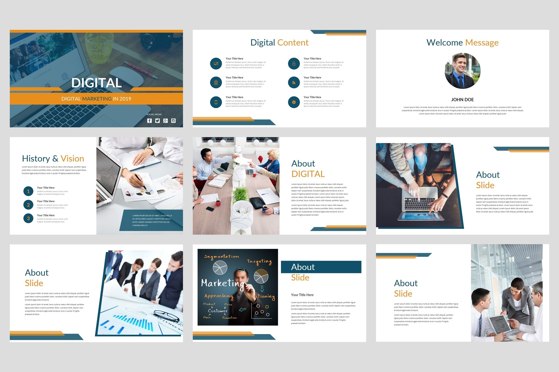 Digital Digital Marketing Powerpoint Template By