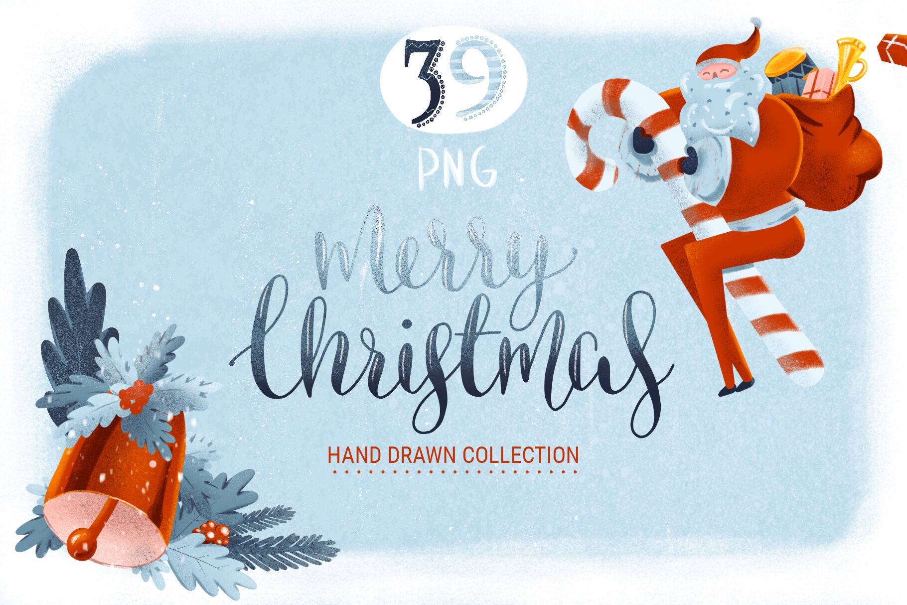 Hand Drawn Christmas Graphic Set By Poster Lobster Thehungryjpeg Com
