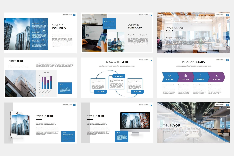 Ovizer Company Profile Powerpoint Template By Stringlabs Thehungryjpeg Com