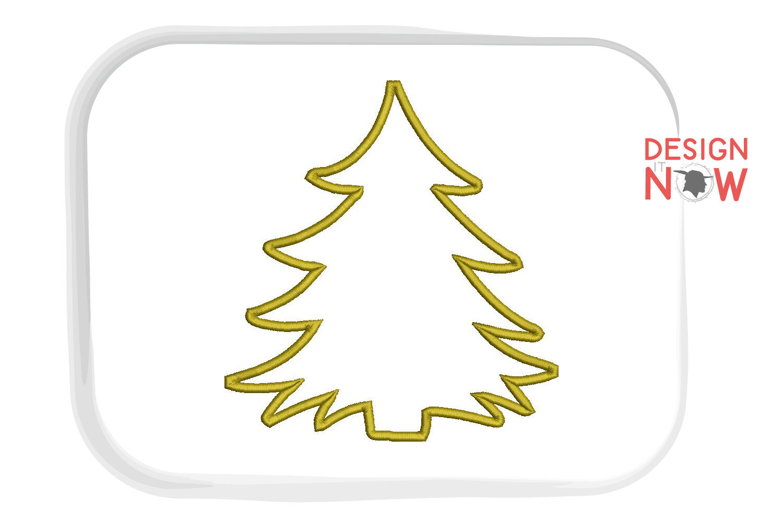 Christmas Tree Applique Design Christmas Embroidery Design