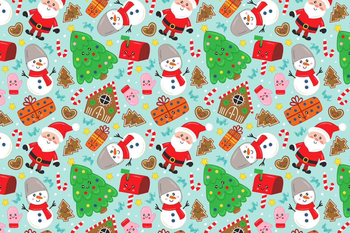 Cute Christmas Set By Nataka Thehungryjpeg Com
