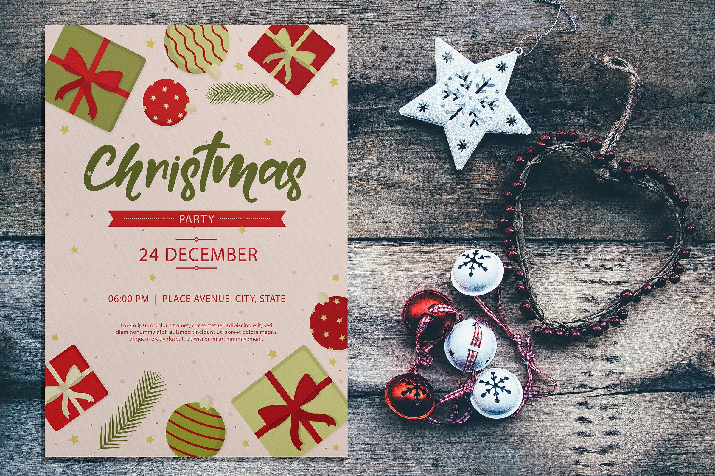 Christmas Card Mockup By North Sea Studio Thehungryjpeg Com