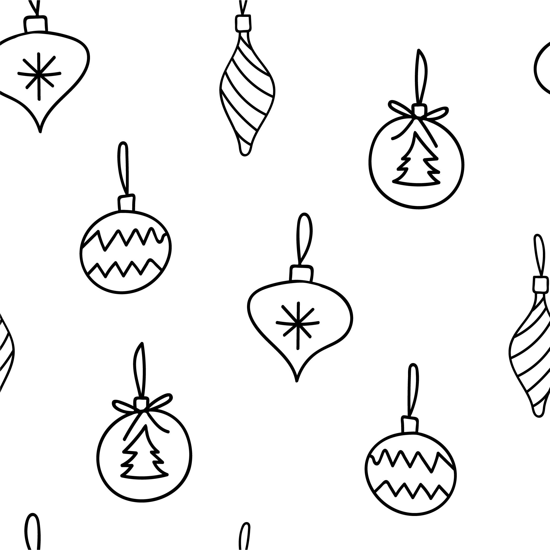 Christmas Tree Baubles Seamless Repeating Patterns By Ayselzdesign