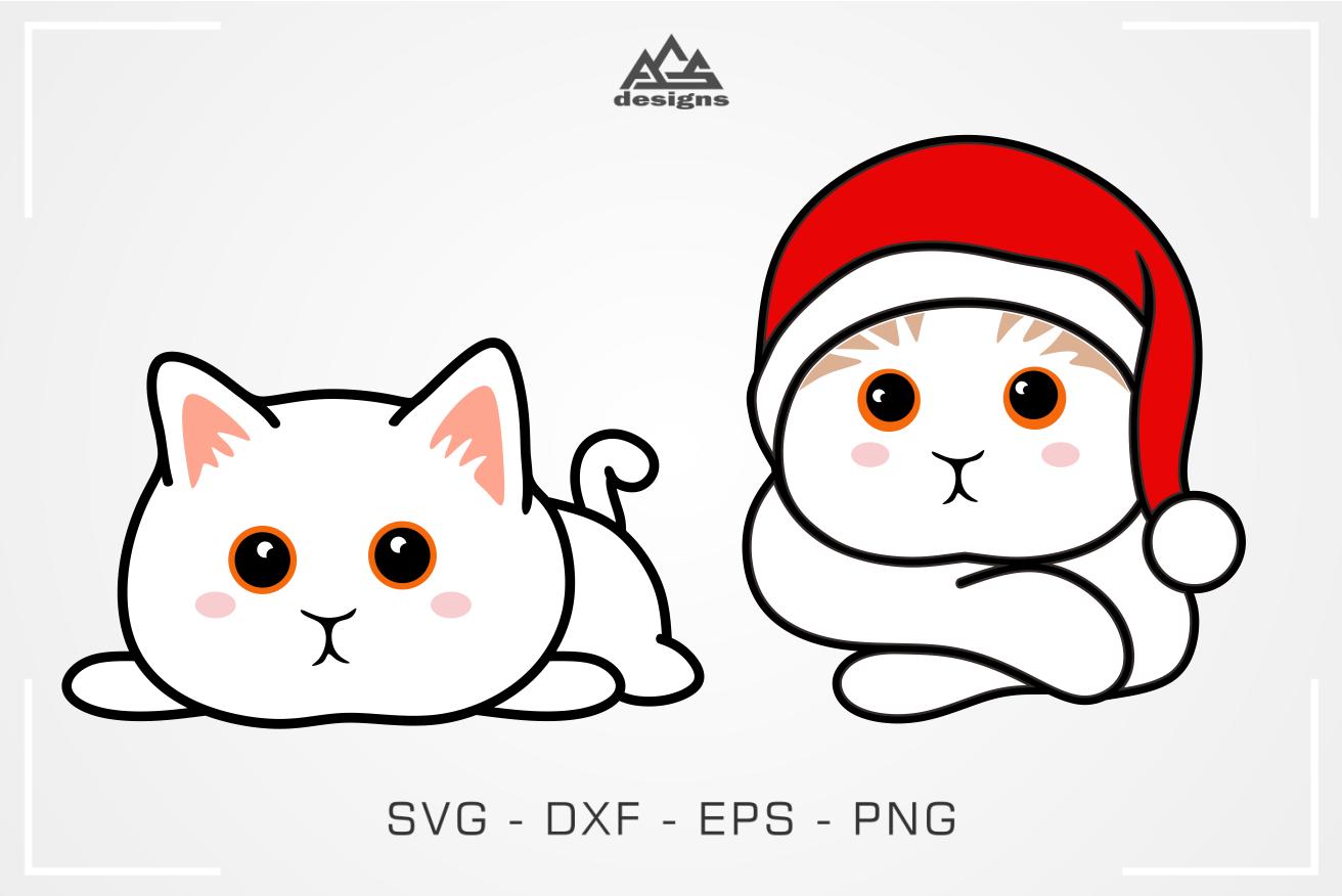 Cute Kitty Cat Svg Design By Agsdesign Thehungryjpeg Com