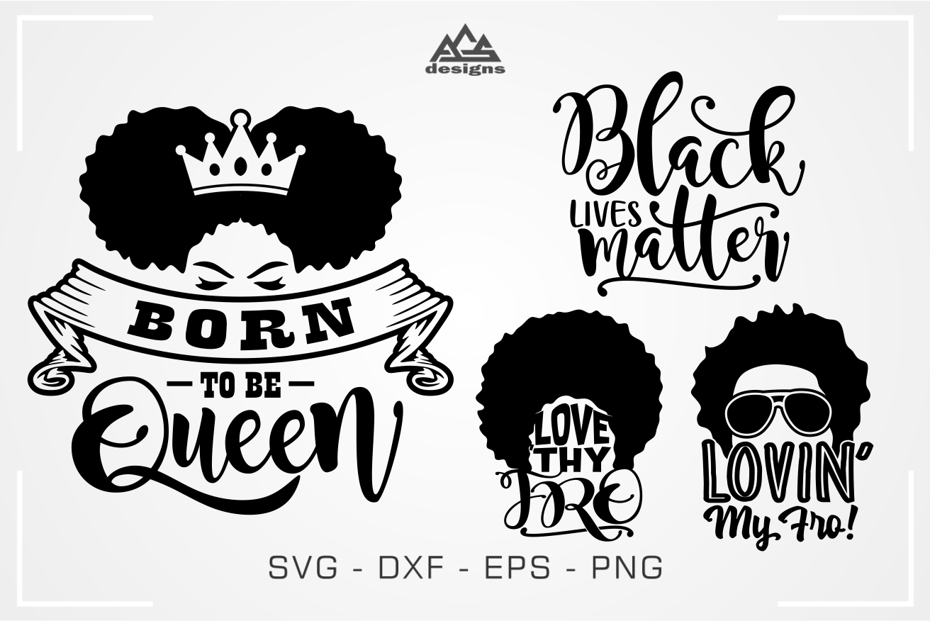 Afro Quotes Word Art Svg Design By Agsdesign Thehungryjpeg Com