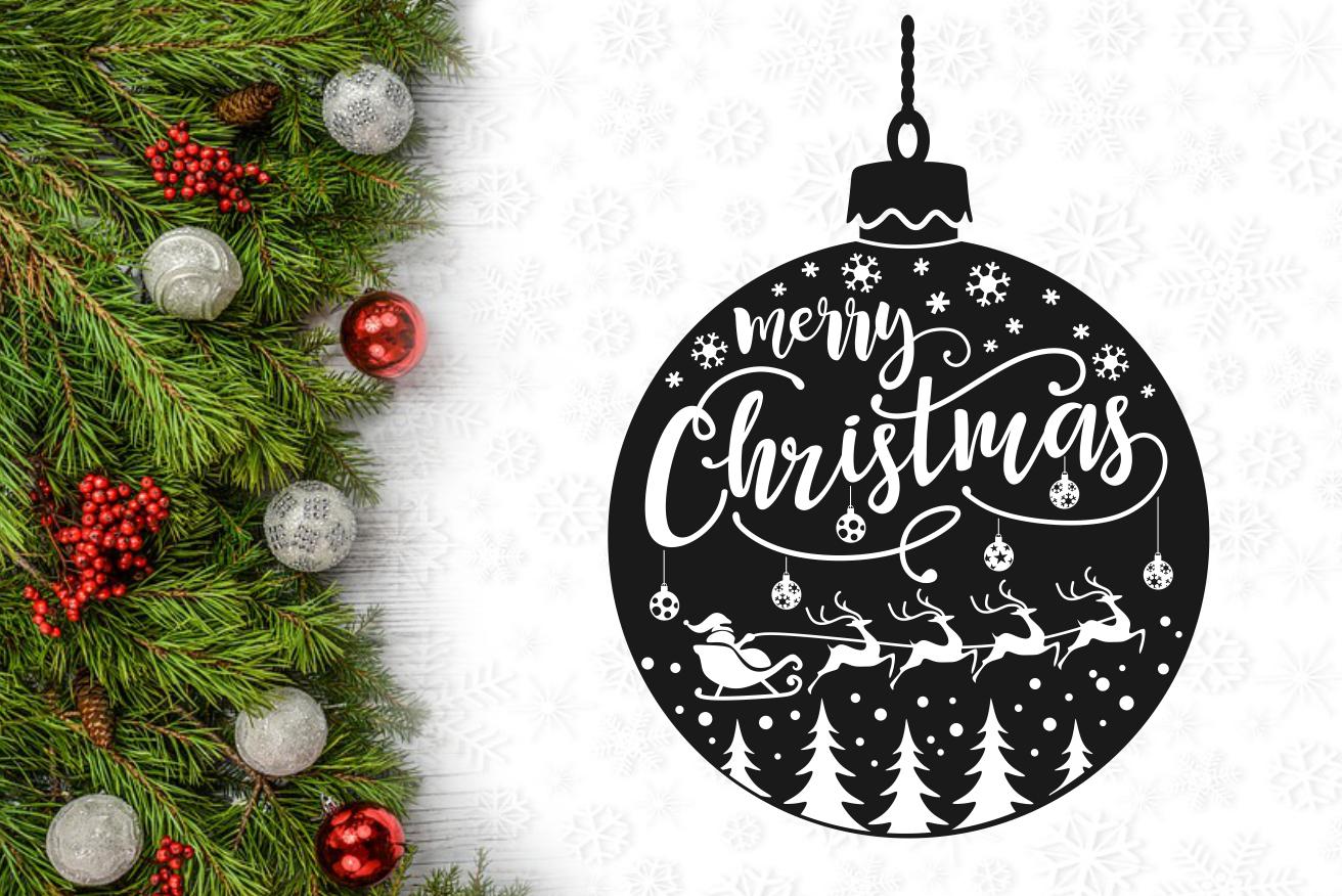 Merry Christmas Light Bulb Svg Design By Agsdesign Thehungryjpeg Com