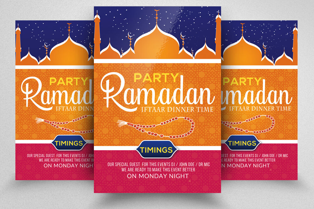 Ramadan Iftaar Party Flyer Template By Designhub Thehungryjpeg Com