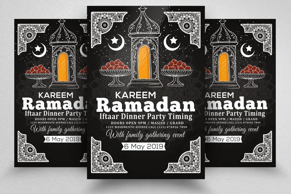 Retro Style Ramadan Kareem Flyer Template By Designhub
