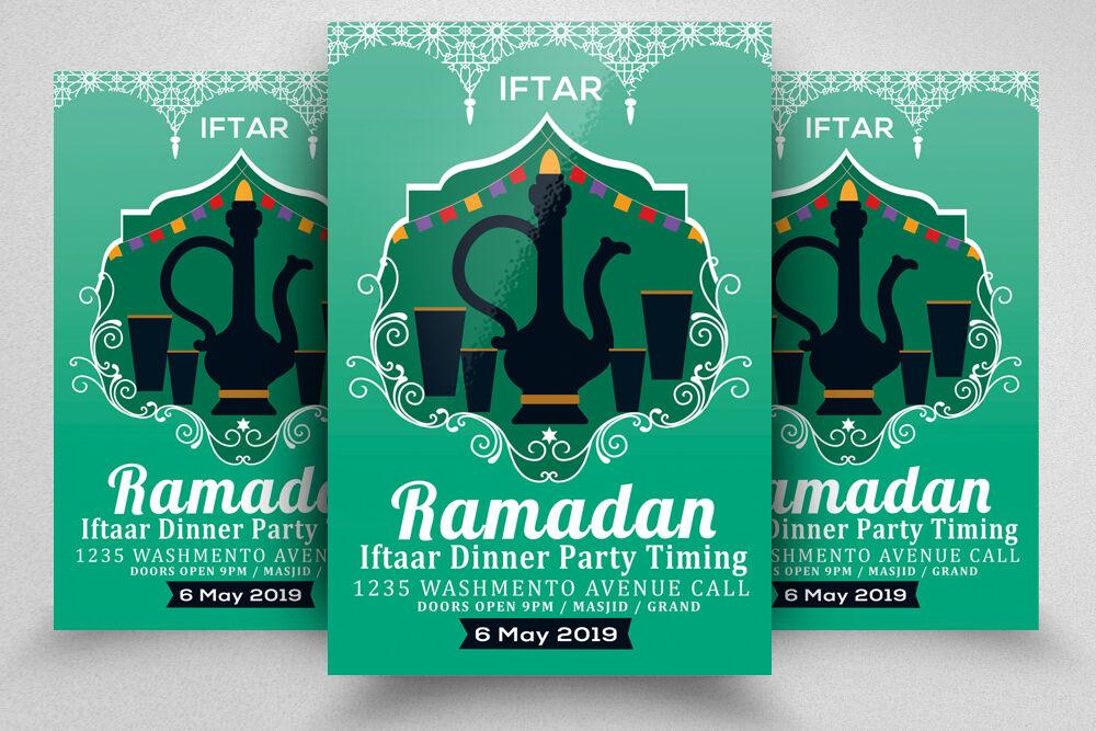 Ramadan Iftar Party Flyer Poster By Designhub Thehungryjpeg Com