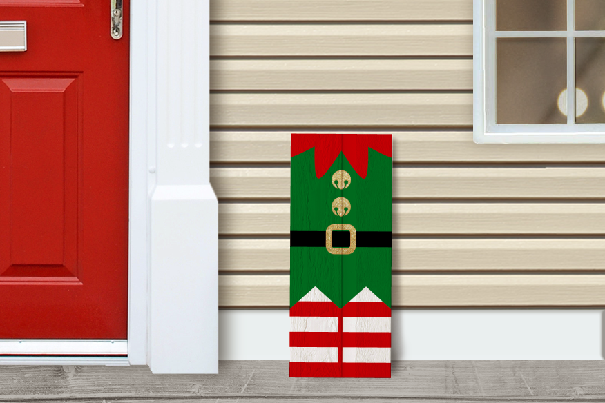 Christmas Elf Porch Sign Svg Png Dxf By Risa Rocks It
