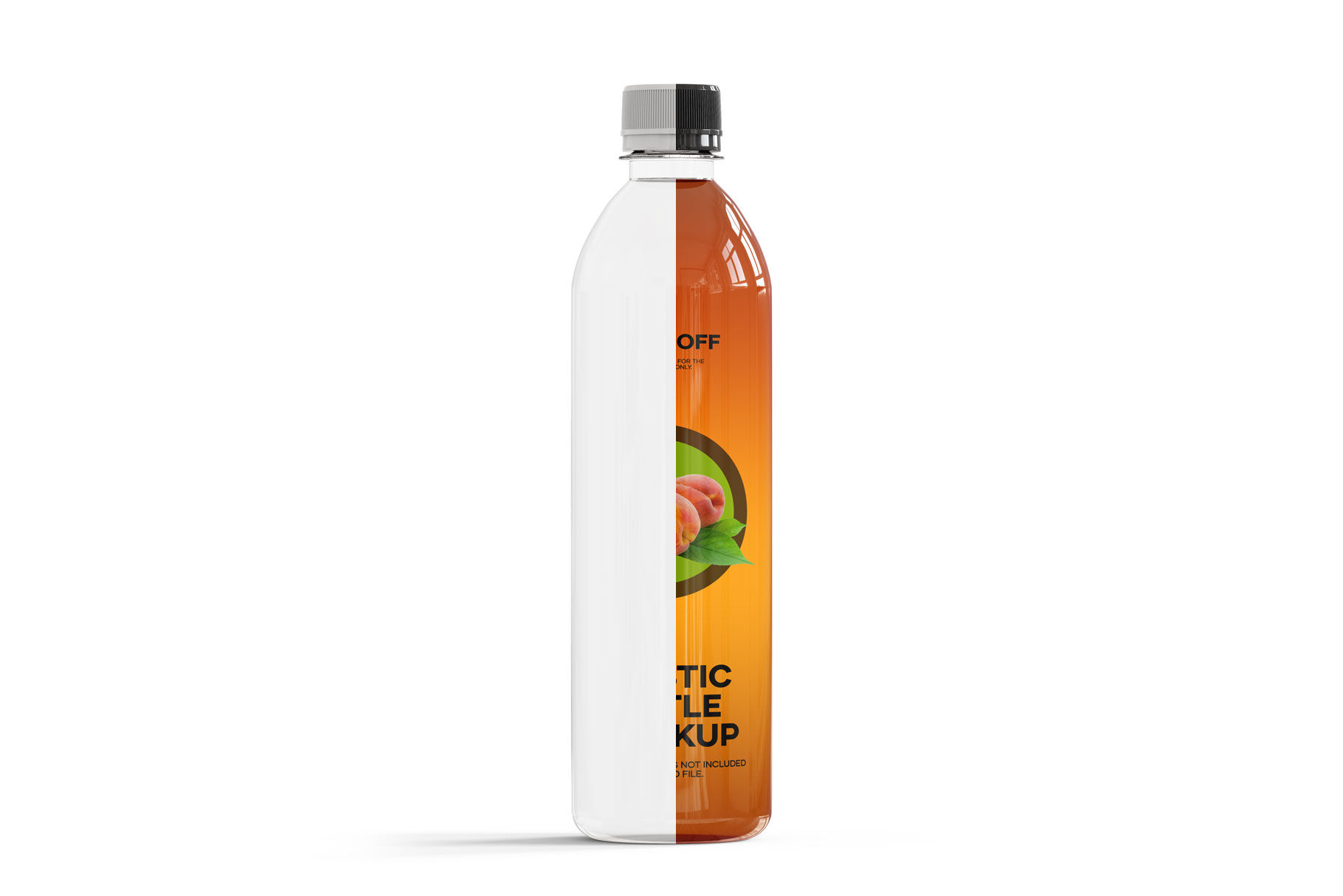 Download 05l Iced Black Tea Bottle Mockup Yellowimages