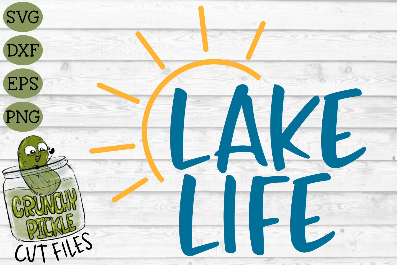 Lake Life Sun 2 Svg File By Crunchy Pickle Thehungryjpeg Com