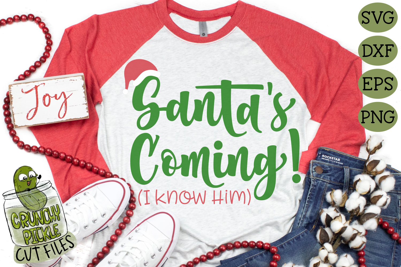 Santa S Coming Elf Phrase Christmas Svg File By Crunchy Pickle Thehungryjpeg Com