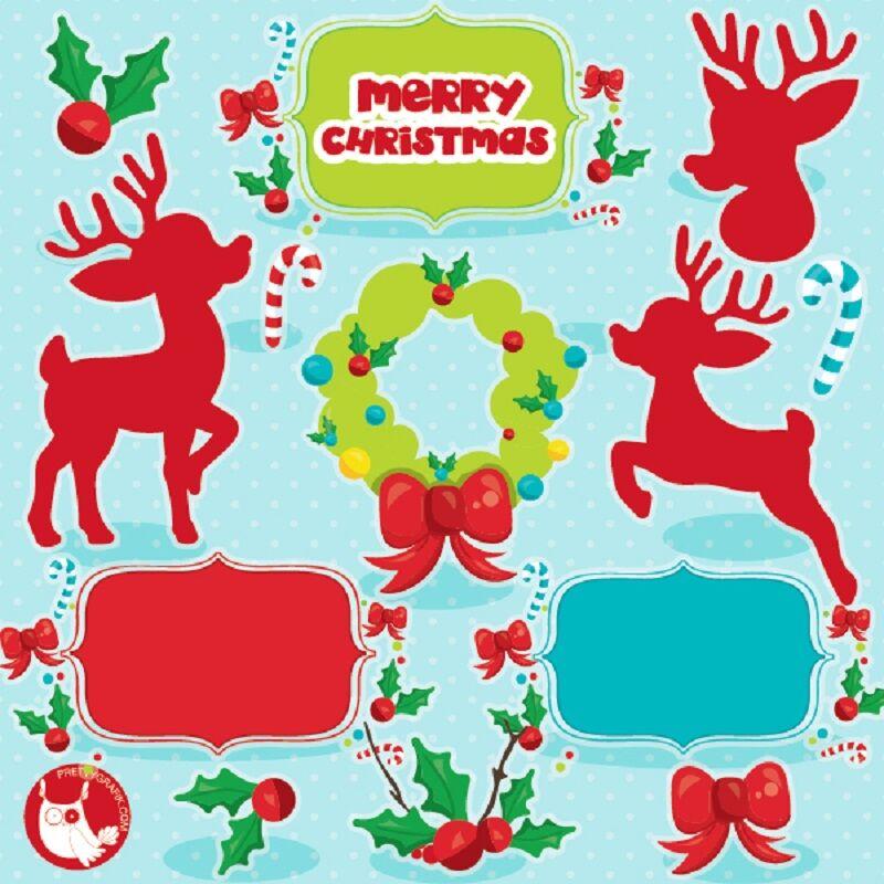 Christmas Reindeer Clipart By Prettygrafik Design