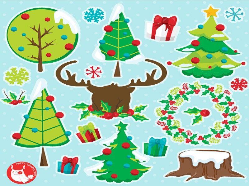 Christmas Tree Clipart By Prettygrafik Design Thehungryjpeg Com