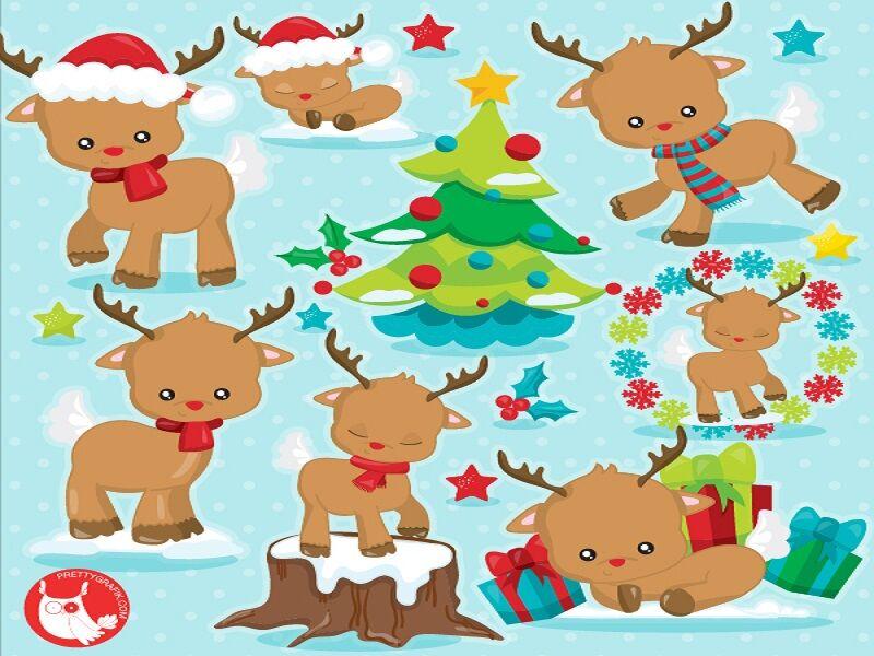 Christmas Reindeer 2 Clipart By Prettygrafik Design