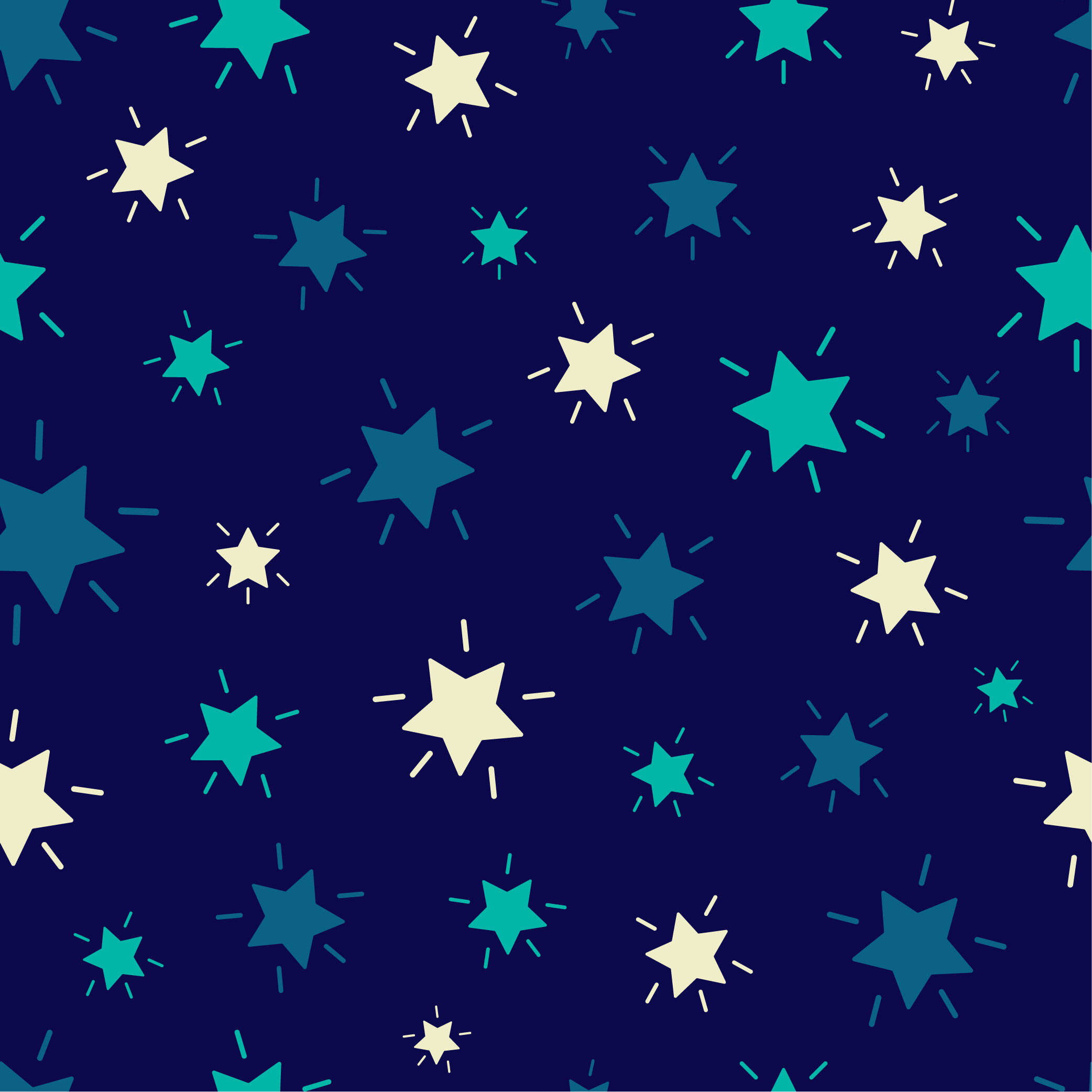 Shining Stars Seamless Repeating Pattern Colorful Stars Background
