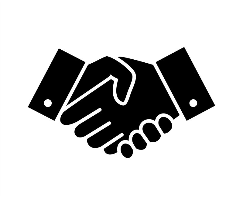 Professional Welcome And Respect Handshake Icon By