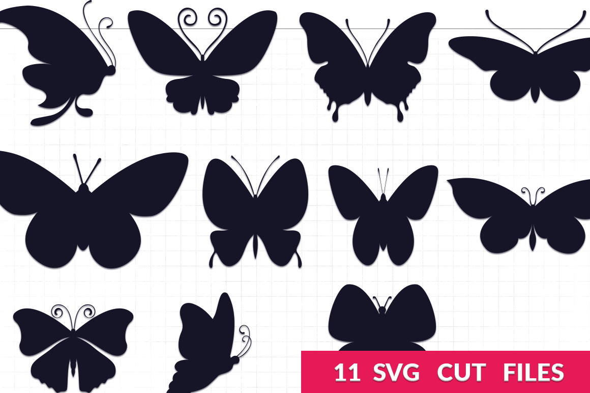 Butterfly Silhouettes Svg Pack By Craft N Cuts Thehungryjpeg Com